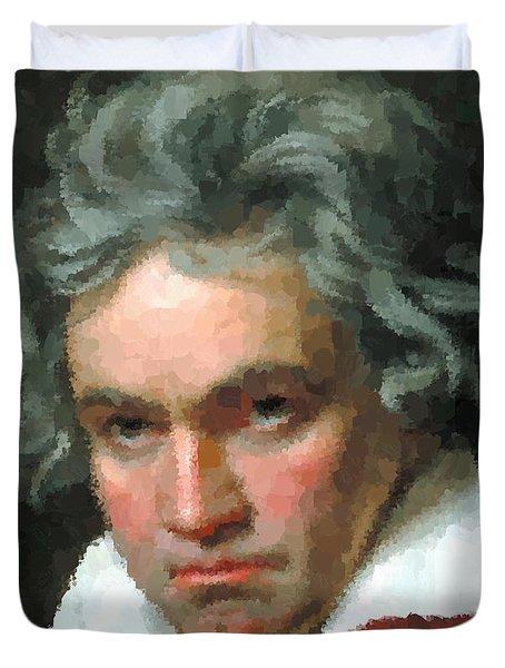 Ludwig Van Beethoven Portrait Duvet Cover