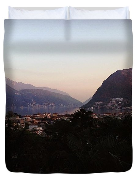 Lugano - Switzerland Duvet Cover