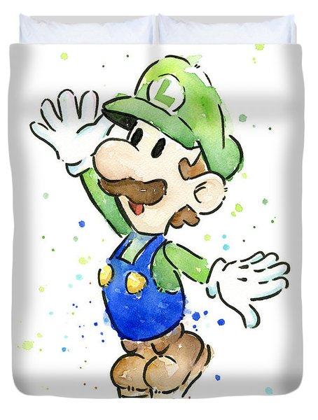 Luigi Watercolor Duvet Cover