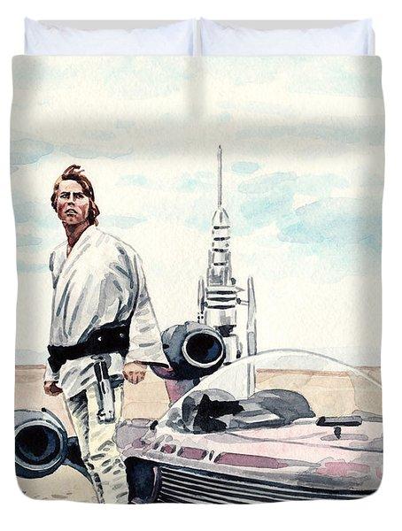 Luke Skywalker On Tatooine Star Wars A New Hope Duvet Cover