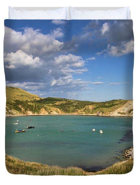 Lulworth Cove Dorset Duvet Cover
