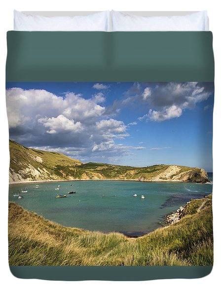 Lulworth Cove Dorset Duvet Cover