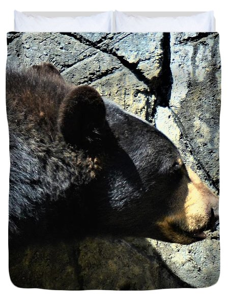 Lumbering Bear Duvet Cover