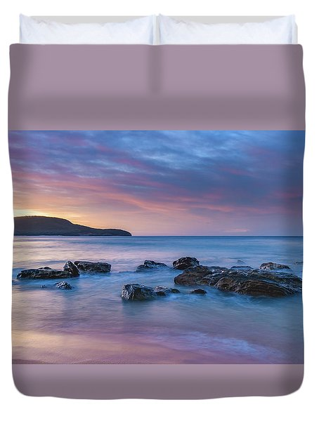 Luminescent Sunrise Seascape Duvet Cover