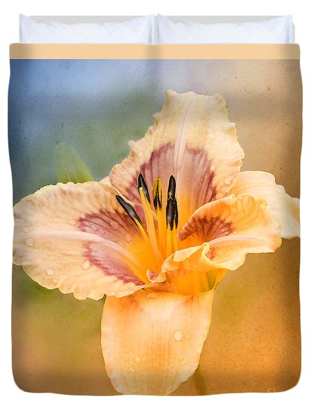 Duvet Cover featuring the photograph Luminosity by Betty LaRue