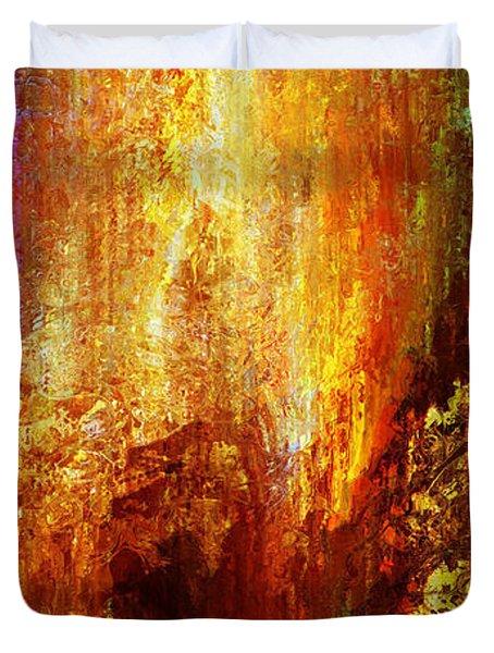 Luminous - Abstract Art Duvet Cover by Jaison Cianelli