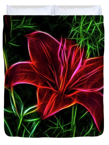Luminous Lily Duvet Cover