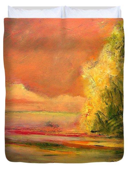 Luminous Sunset 2-16-06 Julianne Felton Duvet Cover