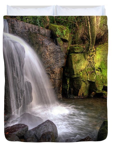 Duvet Cover featuring the photograph Lumsdale Falls 3.0 by Yhun Suarez