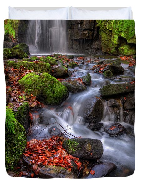 Duvet Cover featuring the photograph Lumsdale Falls 4.0 by Yhun Suarez