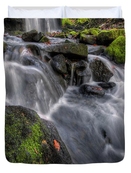 Duvet Cover featuring the photograph Lumsdale Falls 5.0 by Yhun Suarez