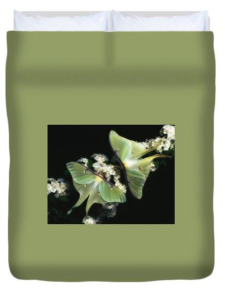 Luna Moths Duvet Cover