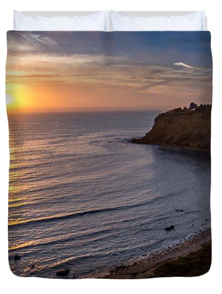 Lunada Bay Sunset Duvet Cover