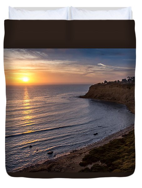 Lunada Bay Sunset Duvet Cover