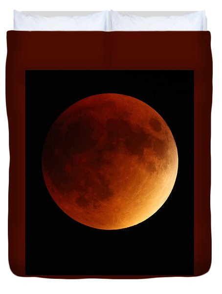 Lunar Eclipse 1 Duvet Cover by Coby Cooper