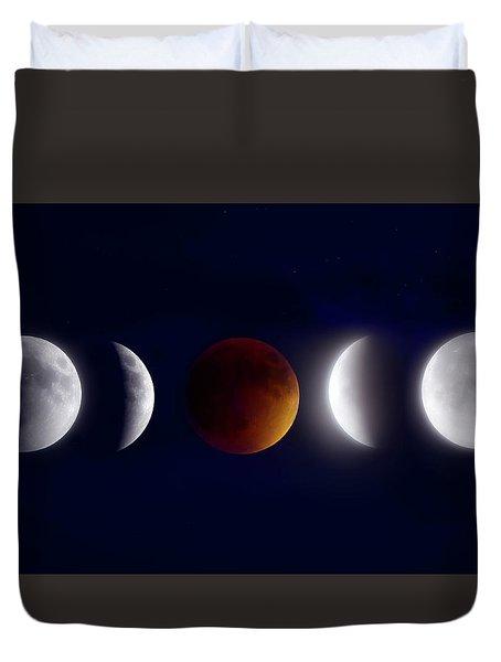 Lunar Eclipse Montage Duvet Cover