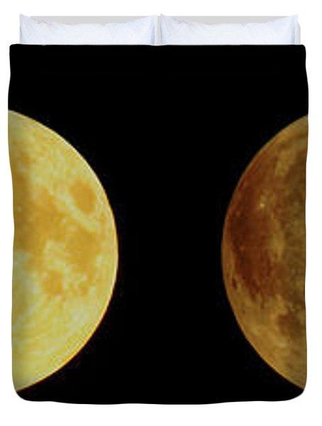 Lunar Eclipse Progression Duvet Cover