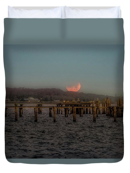 Lunar Eclispe  Duvet Cover