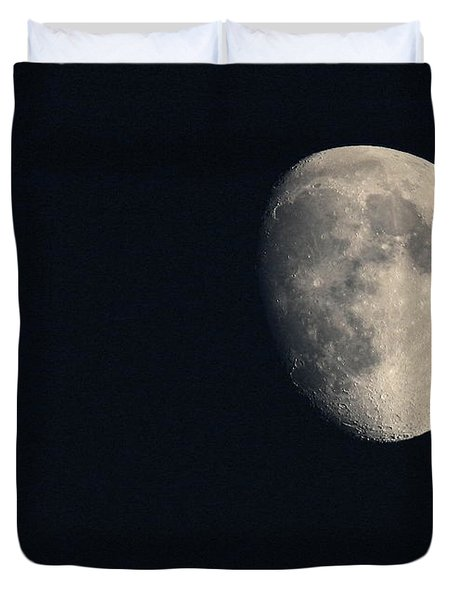 Duvet Cover featuring the photograph Lunar Surface by Angela Rath
