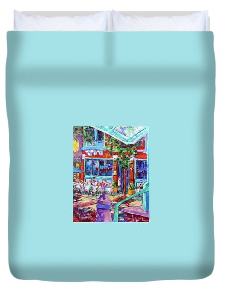 Lunch Alfresco Duvet Cover