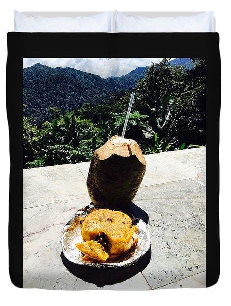 Lunch At El Yunque Duvet Cover