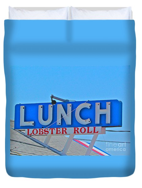 Lunch Duvet Cover by Beth Saffer