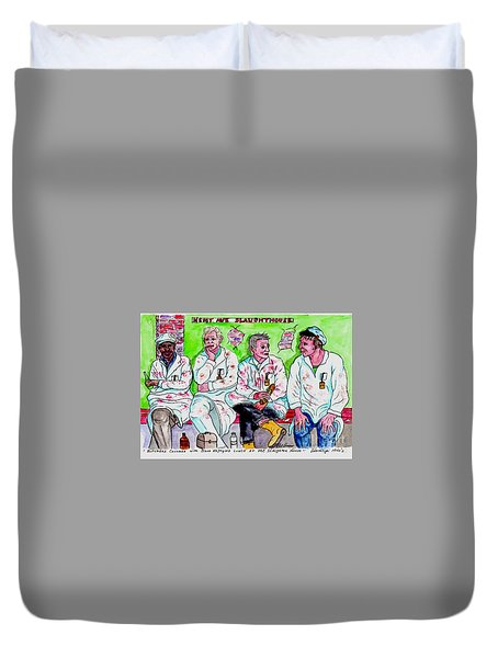 Lunch Break At The Slaughter House Duvet Cover