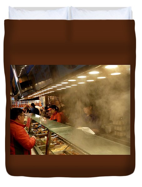 Lunch Counter In Flushing Duvet Cover