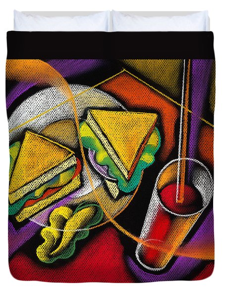 Lunch Duvet Cover by Leon Zernitsky