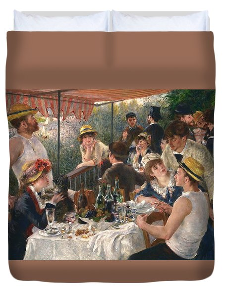 Luncheon Of The Boating Party By Renoir Duvet Cover