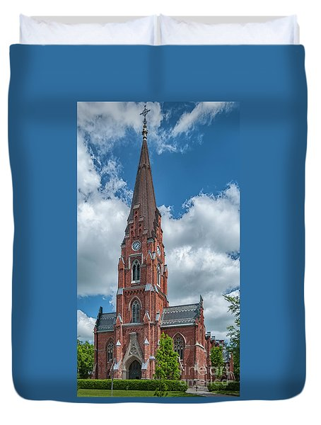 Duvet Cover featuring the photograph Lund All Saints Church by Antony McAulay