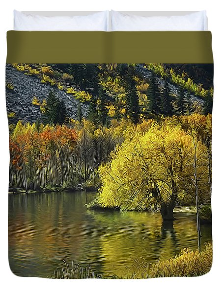 Lundy Lake Beauty Duvet Cover