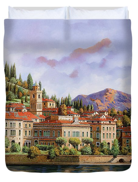 lungolago di Bellagio Duvet Cover