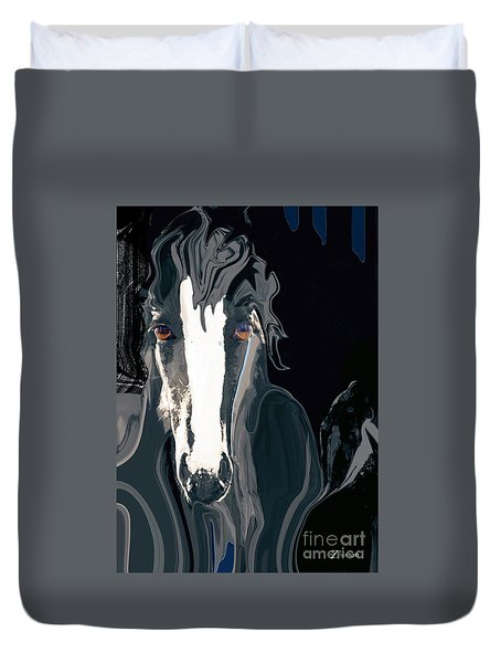 Lungta Windhorse No. 2-energy Duvet Cover