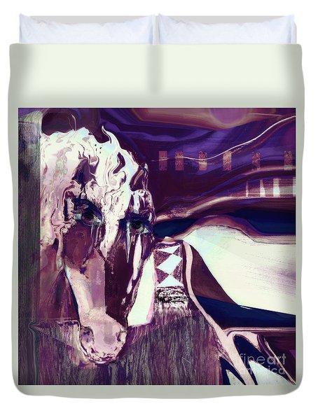 Lungta Windhorse No 5 Duvet Cover