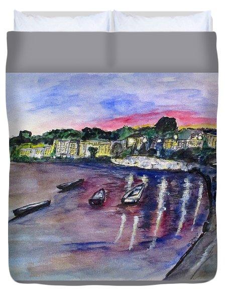 Luogo Mergellina, Napoli Duvet Cover by Clyde J Kell
