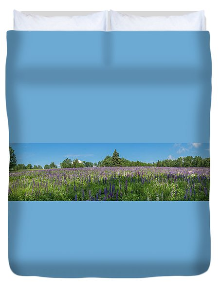 Lupine Field Duvet Cover
