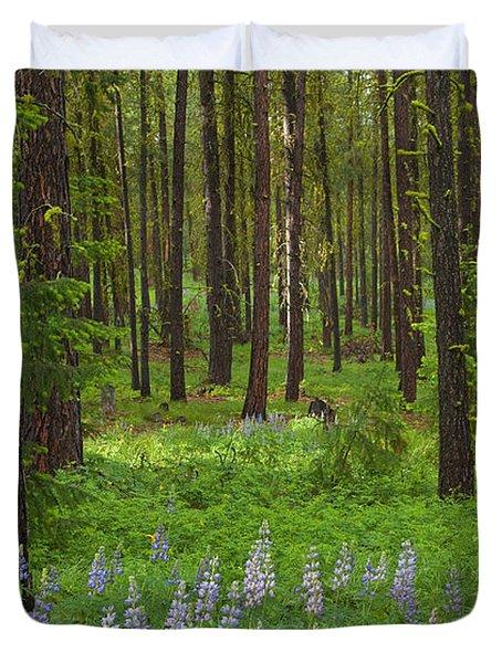 Lupine Carpet Duvet Cover by Mike  Dawson