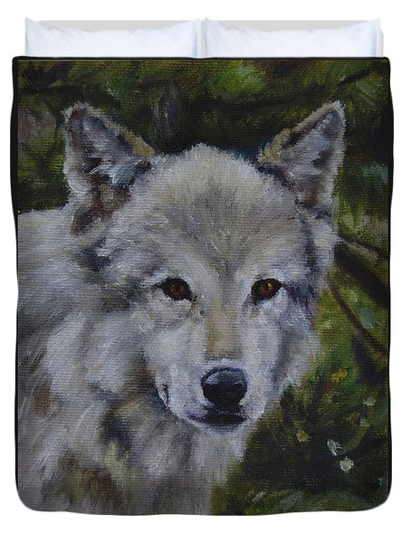 Lupine Gaze Duvet Cover