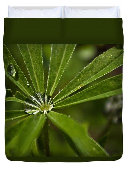 Lupine Leaf Duvet Cover