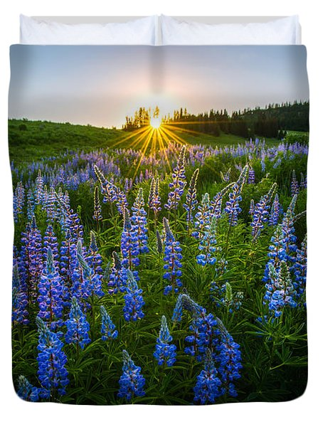 Lupine Meadow Duvet Cover