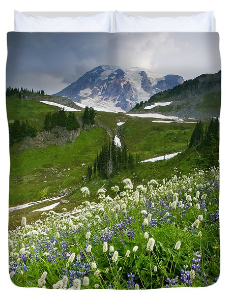 Lupine Storm Duvet Cover by Mike  Dawson