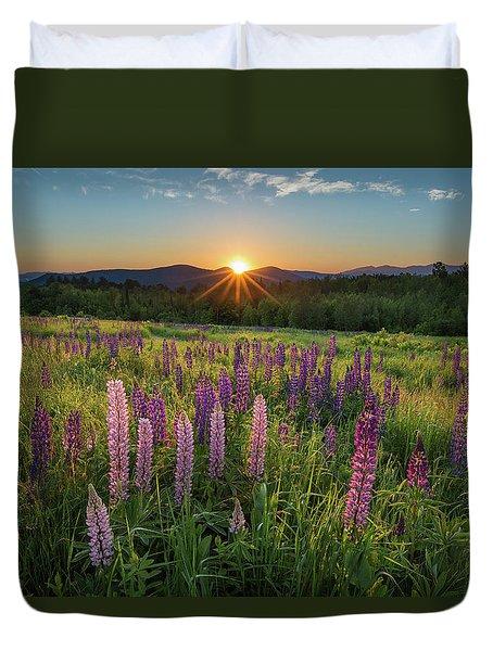 Lupine Sunrise Duvet Cover
