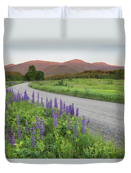 Lupine Sunset Road Duvet Cover