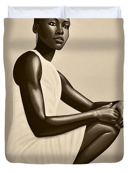 Lupita Nyong'o Duvet Cover