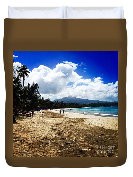 Luquillo Beach, Puerto Rico Duvet Cover by The Art of Alice Terrill