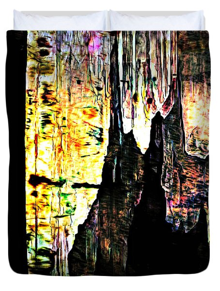 Luray Cavern Abstract 2 Duvet Cover
