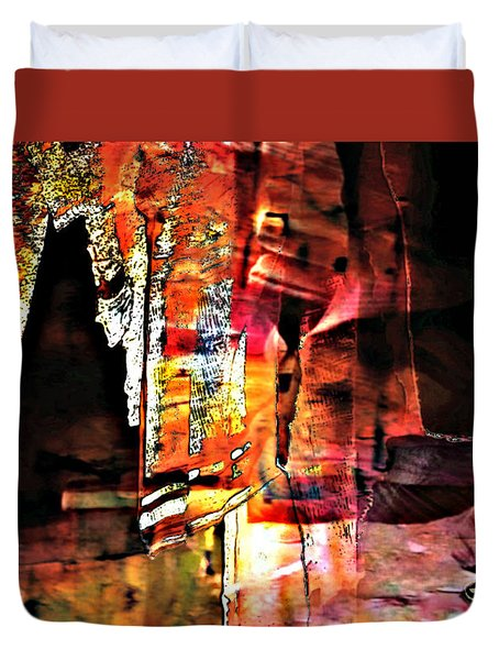 Luray Cavern Abstract Duvet Cover