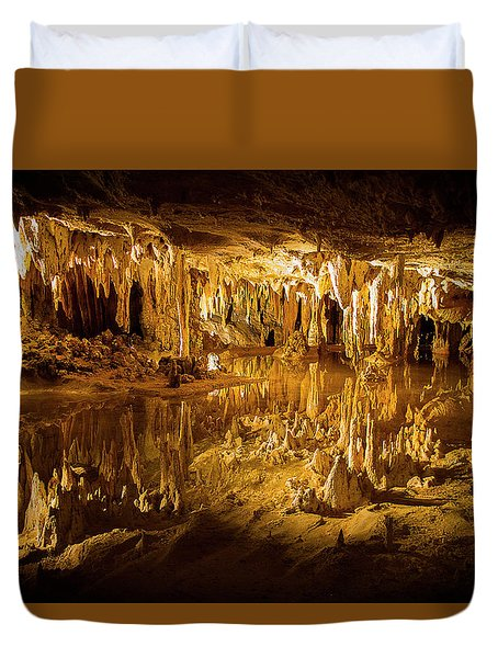 Luray Caverns Duvet Cover