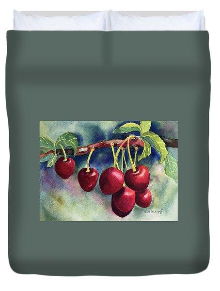 Luscious Cherries Duvet Cover